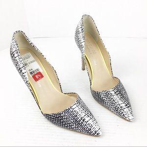 Ann Marino D'Orsay Black & White Heels SZ 8.5